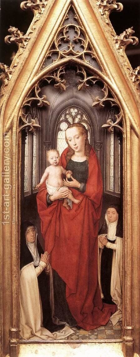 St Ursula Shrine- Virgin and Child 1489 by Hans Memling - Reproduction Oil Painting