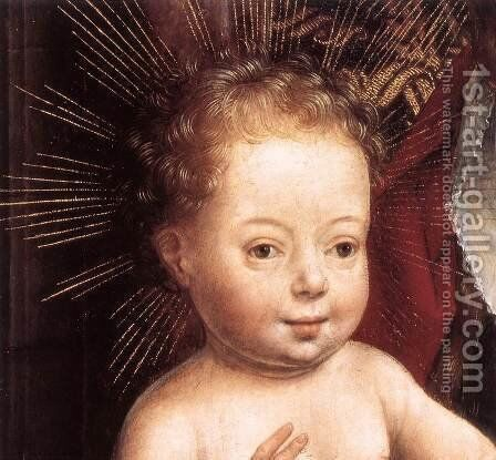 Standing Virgin and Child (detail) c. 1490 by Hans Memling - Reproduction Oil Painting