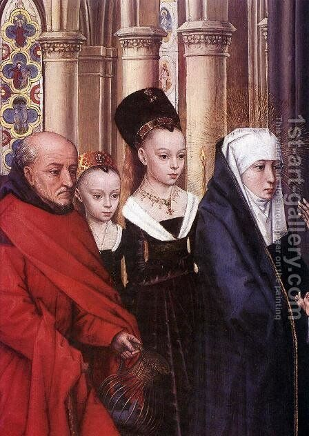 The Presentation in the Temple (detail) 1463 by Hans Memling - Reproduction Oil Painting