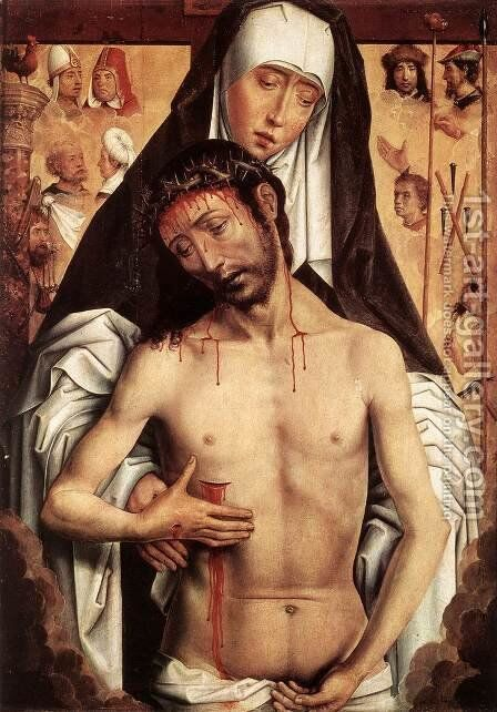 The Virgin Showing the Man of Sorrows 1475 or 1479 by Hans Memling - Reproduction Oil Painting