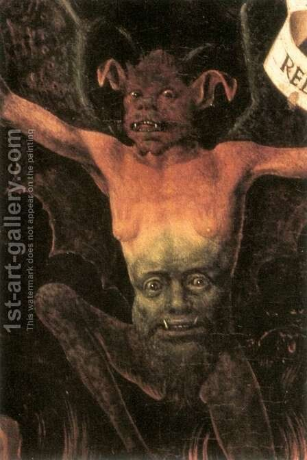 Triptych of Earthly Vanity and Divine Salvation (detail-2) c. 1485 by Hans Memling - Reproduction Oil Painting