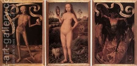 Triptych of Earthly Vanity and Divine Salvation (front) c. 1485 by Hans Memling - Reproduction Oil Painting