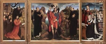 Triptych of the Family Moreel 1484 by Hans Memling - Reproduction Oil Painting