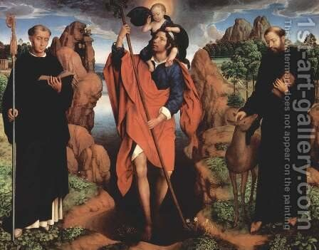 Triptych of the Family Moreel (central panel) 1484 by Hans Memling - Reproduction Oil Painting