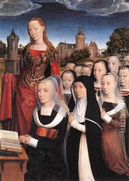 Triptych of the Family Moreel (detail) 1484 by Hans Memling - Reproduction Oil Painting