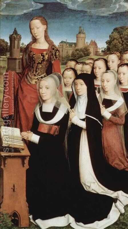 Triptych of the Family Moreel (right wing) 1484 by Hans Memling - Reproduction Oil Painting