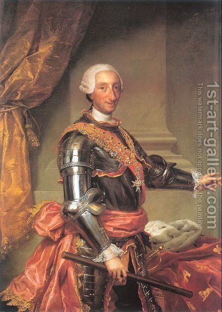 Charles III  1761 by Anton Raphael Mengs - Reproduction Oil Painting