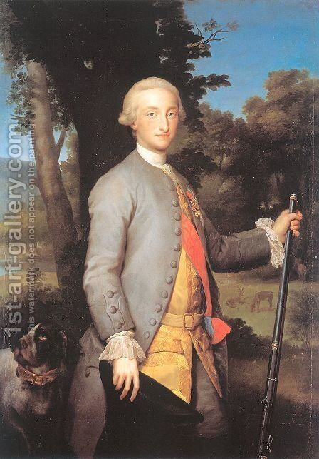 Charles IV as Prince by Anton Raphael Mengs - Reproduction Oil Painting
