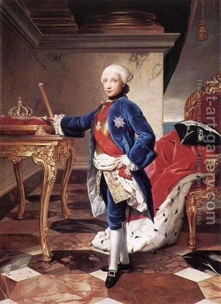 Ferdinand IV, King of Naples 1760 by Anton Raphael Mengs - Reproduction Oil Painting