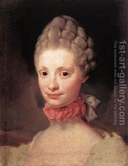 Maria Luisa of Parma 1765 by Anton Raphael Mengs - Reproduction Oil Painting