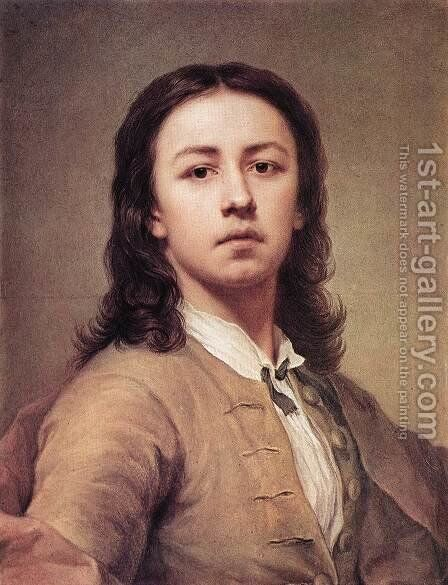 Self-Portrait 1744 by Anton Raphael Mengs - Reproduction Oil Painting