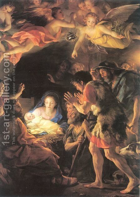 The Adoration of the Shepherds 1770 by Anton Raphael Mengs - Reproduction Oil Painting