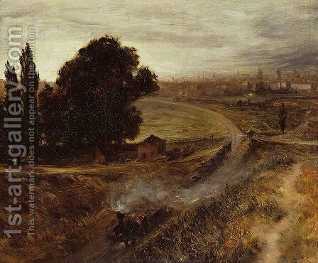 The Berlin-Potsdam Railway 1847 by Adolph von Menzel - Reproduction Oil Painting