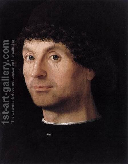 Portrait of a Man 1475-76 by Antonello da Messina Messina - Reproduction Oil Painting