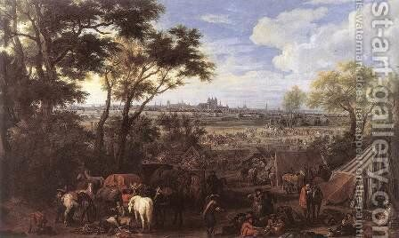 The Army of Louis XIV in front of Tournai in 1667,  1684 by Adam Frans van der Meulen - Reproduction Oil Painting