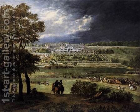 The New Château at Saint-Germain-en-Laye by Adam Frans van der Meulen - Reproduction Oil Painting