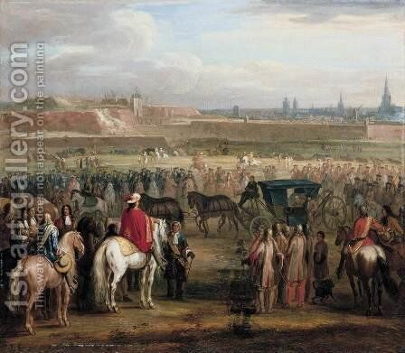 The Surrender of Cambrai 1677 by Adam Frans van der Meulen - Reproduction Oil Painting