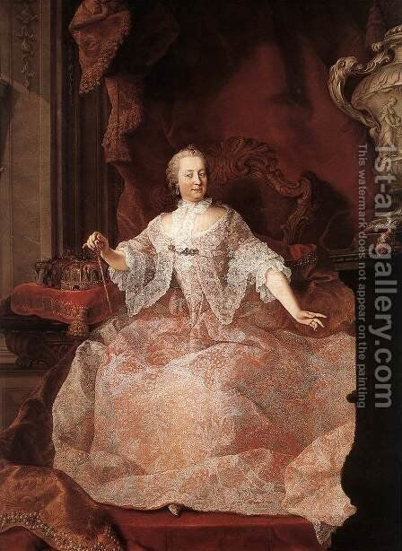 Empress Maria Theresa by Martin van, II Meytens - Reproduction Oil Painting