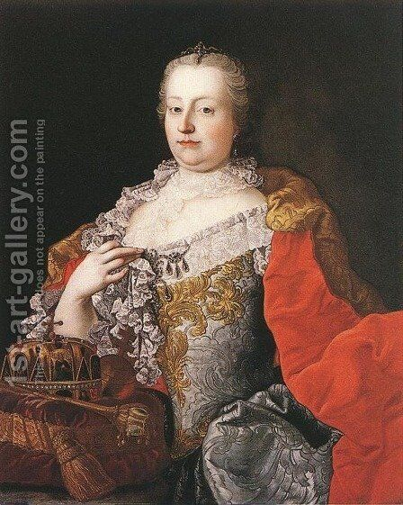 Queen Maria Theresia 1750s by Martin van, II Meytens - Reproduction Oil Painting
