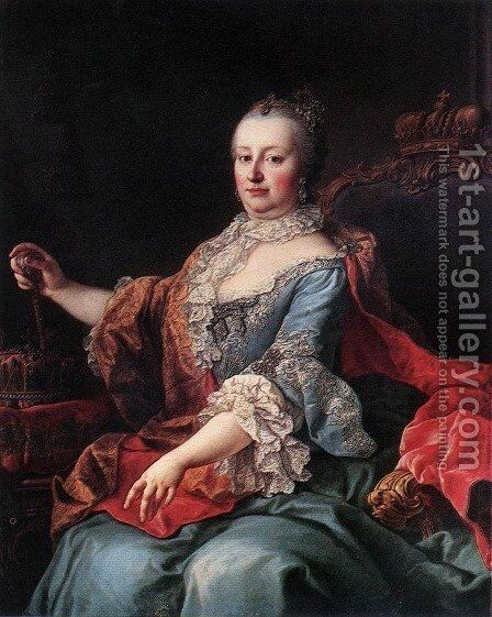 Queen Maria Theresia (2) 1750s by Martin van, II Meytens - Reproduction Oil Painting