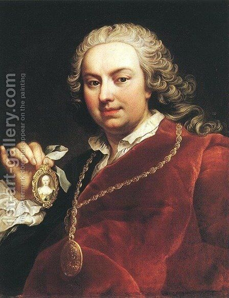 Self-portrait 1740s by Martin van, II Meytens - Reproduction Oil Painting