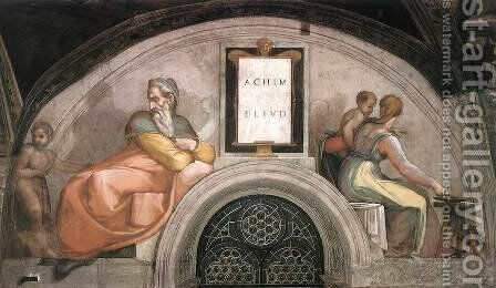 Achim - Eliud 1511-12 by Michelangelo - Reproduction Oil Painting