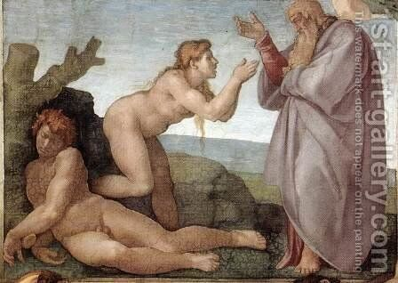 Creation of Eve 1509-10 by Michelangelo - Reproduction Oil Painting