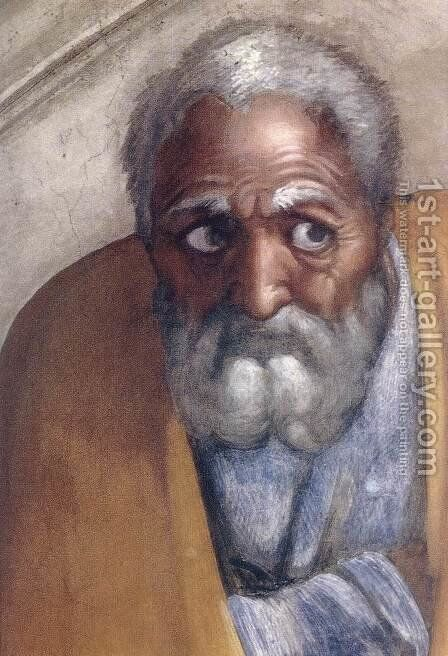 Jacob - Joseph (detail-1) 1511-12 by Michelangelo - Reproduction Oil Painting