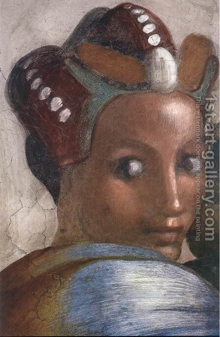 Jacob - Joseph (detail-4) 1511-12 by Michelangelo - Reproduction Oil Painting