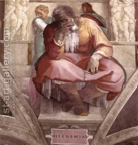 Jeremiah 1511 by Michelangelo - Reproduction Oil Painting