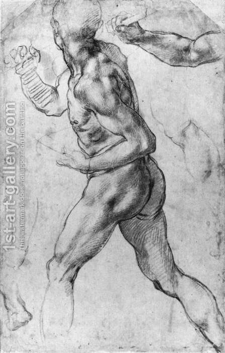 Male Nude 1505 by Michelangelo - Reproduction Oil Painting