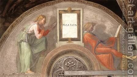 Nahshon 1511-12 by Michelangelo - Reproduction Oil Painting