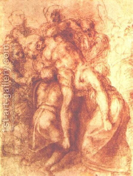 Study for a Deposition 1555 by Michelangelo - Reproduction Oil Painting