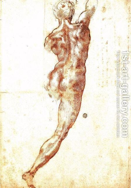 Study for a Nude 1504 by Michelangelo - Reproduction Oil Painting