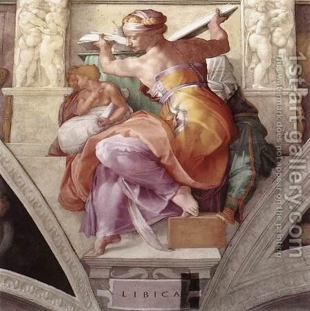 The Libyan Sibyl 1511 by Michelangelo - Reproduction Oil Painting