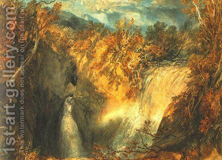Weathercote Cave by Turner - Reproduction Oil Painting