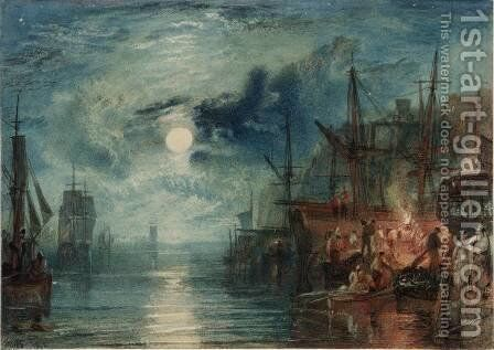 Shields, on the River Tyne by Turner - Reproduction Oil Painting