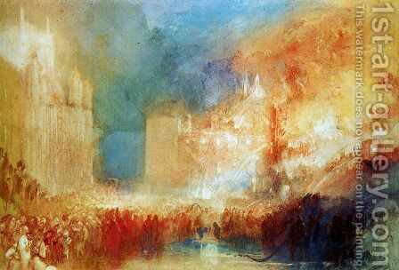 Burning of the Houses of Parliament by Turner - Reproduction Oil Painting
