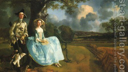 Robert Andrews and his Wife, Frances by Thomas Gainsborough - Reproduction Oil Painting