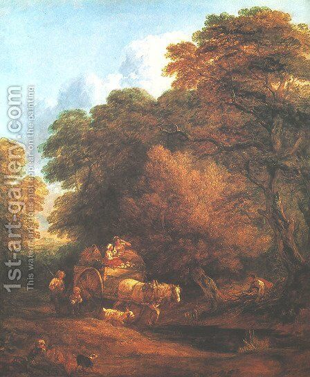 Market Cart by Thomas Gainsborough - Reproduction Oil Painting