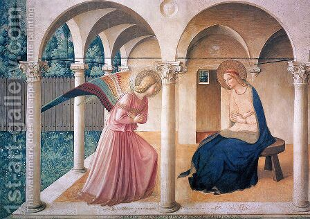 Annunciation by Angelico Fra - Reproduction Oil Painting