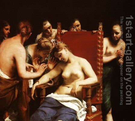 Death of Cleopatra by Guido Cagnacci - Reproduction Oil Painting