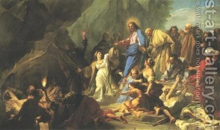 Resurrection of Lazarus by Jean-baptiste Jouvenet - Reproduction Oil Painting
