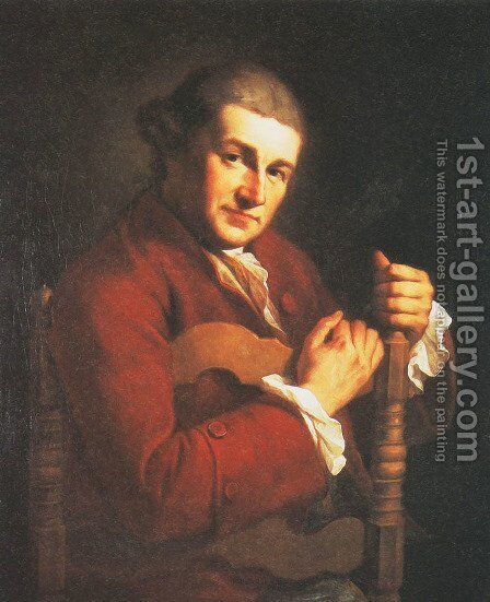 Portrait of David Garrick by Angelica Kauffmann - Reproduction Oil Painting