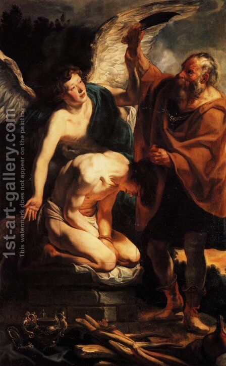 Sacrifice of Isaac by Jacob Jordaens - Reproduction Oil Painting