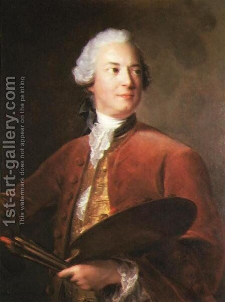 Portrait of Louis Tocque by Jean-Marc Nattier - Reproduction Oil Painting