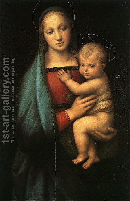 Madonna & Child (Madonna del Granduca) 1505 by Raphael - Reproduction Oil Painting