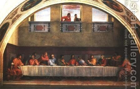 Last Supper by Andrea Del Sarto - Reproduction Oil Painting