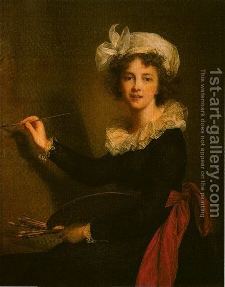Self-Portrait by Elisabeth Vigee-Lebrun - Reproduction Oil Painting
