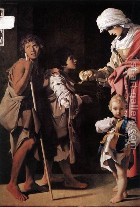 The Charity 1611 by Bartolomeo Schedoni - Reproduction Oil Painting